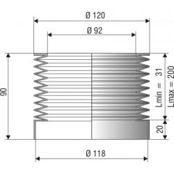 soufflet D92 et D118 en NBR réf 1089 NBR