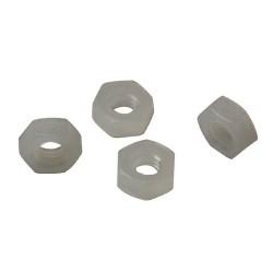 Ecrou M4 hexagonal en plastique