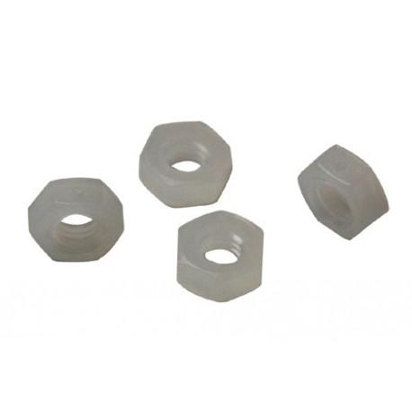 Ecrou M4 Nylon hexagonal blanc