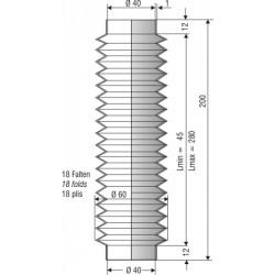 Soufflet en nbr ouvertures 40mm
