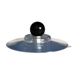 Ventouse forte 100mm transparente + BOULE 25mm