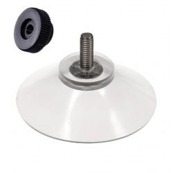 ventouse 40 mm tige 11 mm + ecrou molete noir