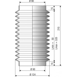 Soufflet 90mm F1217NBR