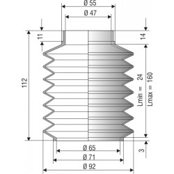Soufflet 47mm/65mm F1132NBR