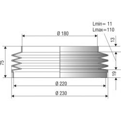 Soufflet 180/220mm F1122NBR