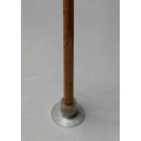 Tige en bois naturel 5mm diamètre -50cm long pour ventouses avec trou de 4mm