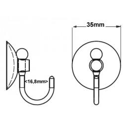 ventouse 35 mm avec crochet grande ouverture