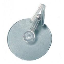 Ventouse 50mm avec pince transparente