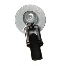 Ventouse 30mm avec pinces plastiques noires
