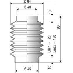 Soufflet D40 et 45 L 20 à 130mm