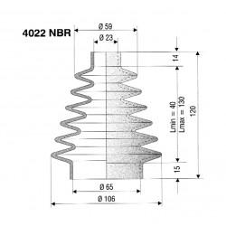 Soufflet 23mm et 65mm réf 4022 NBR