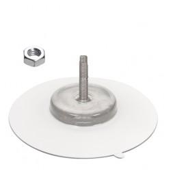ventous e100 mm tige fileté m6 longueur 40 mm + ecrou hex acier