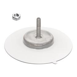 ventouse 100 mm tige m6 long 30 + ecrou hex acier