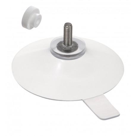 ventouse 50 mm tige 11 mm languette + ecrou molete blanc