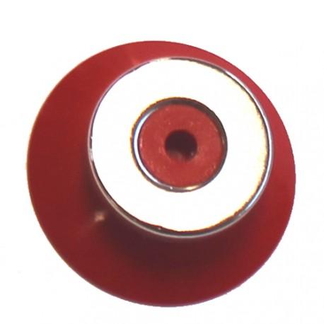 Ventouse rouge 38 mm avec aimant 25 mm