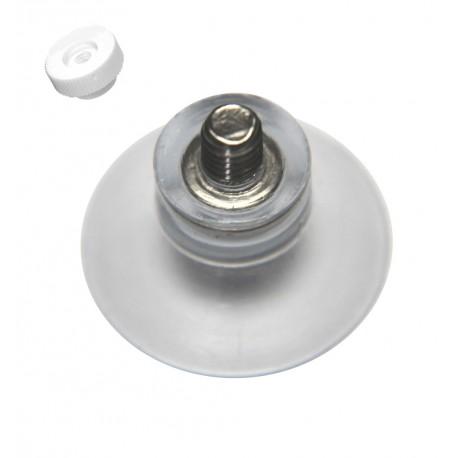 Ventouse 20mm ecrou rond blanc M4 moleté