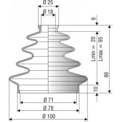 Soufflet conique en NBR réf 1189 .jpeg