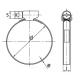 plan Collier de serrage diamètre 50 à 70mm