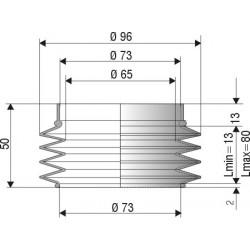 Soufflet de protection diamètre 73mm Longueur 50 mm