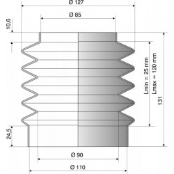 Soufflet de protection Diamètre 85 mm et 100 mm