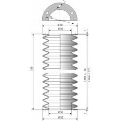 2025 CR Soufflet D 58mm Long 65 à 470 mm