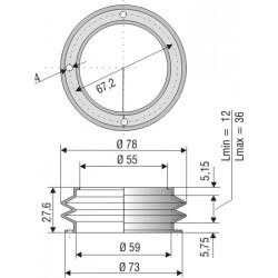 2031 SI SPEZ Soufflet D 55 et D59 Long 12mm à 36 mm