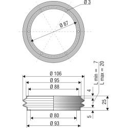 2034 CR Soufflet D 80mm et 88 mm Long 7 à 20 mm