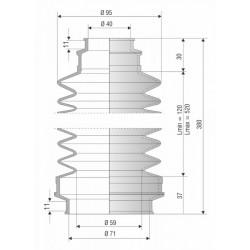4039 NBR Soufflet de protection diam 40 et 71