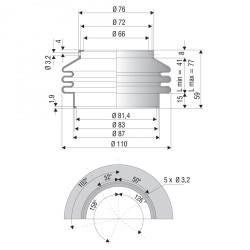 2049 CR Soufflet D 66mm et 81.4 mm Long 41 à 77 mm