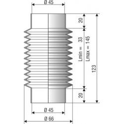 1202 NBR Soufflet D 45mm Long 33 à 145 mm