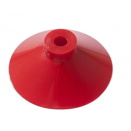 Ventouse ROUGE 37,5mm avec trou 5 mm VERTICAL dans la tige