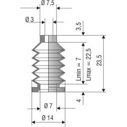 Soufflet 3mm F1092
