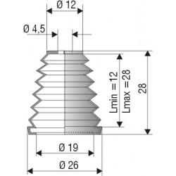 Soufflet protection 4.5mm et 19mm