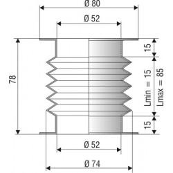 1191 NBR Soufflet D 52mm NBR Lmin 15 Lmax 85