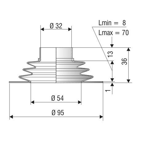 Soufflet F1099 NBR