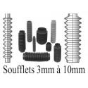 Soufflets D 3mm à D 10mm