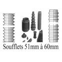 Soufflets D 51mm à D 60mm
