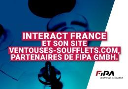 InterAct France et son site Ventouses-soufflets.com, partenaires de Fipa Gmbh