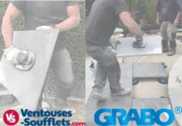 Poser une terrasse en Grès-Cérame avec la ventouse électrique Grabo